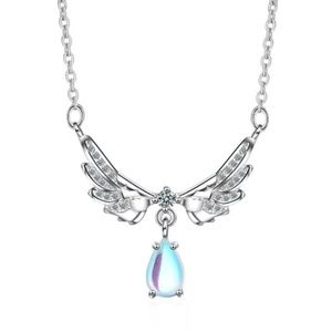 .925 Sterling silver angel wings Pendant necklace